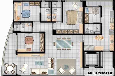 Planta apartamento 116,89 m2