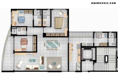 Planta apartamento 117,48 (final 03)