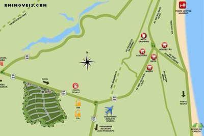 Mapa de localização do Condomínio Horizontes Macaíba