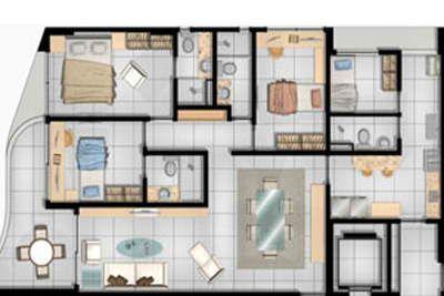 Planta do apartamento 112,17 m2