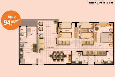 Planta do apartamento TIPO 2
