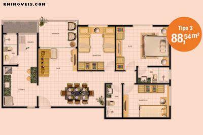 Planta do apartamento TIPO 3